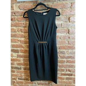 Calvin Klein Black Stretch Sheath Dress w/ Chain